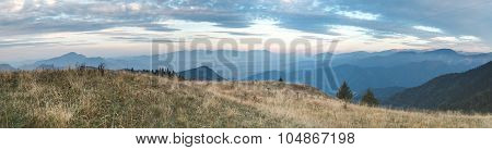 Evening View From Greater Fatra To High Tatras