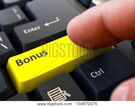 Press Button Bonus on Black Keyboard.
