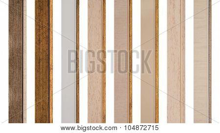 Frame samples isolated on white