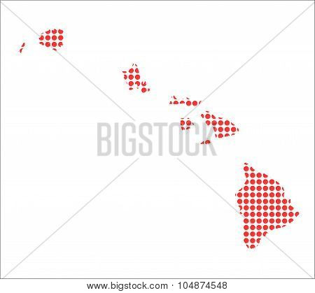Red Dot Map Of Hawaii