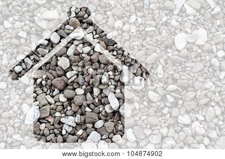 Gravel Texture With House