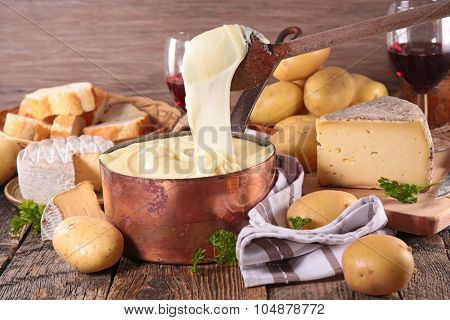 aligot,cheese and potato fondue