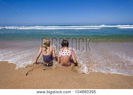 Girls Beach Happiness
