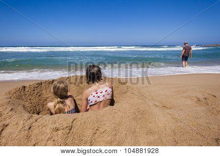 Girls Beach Ocean Holidays
