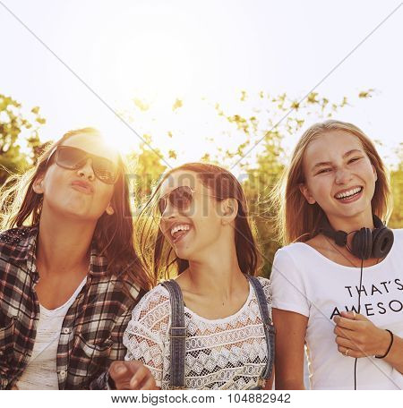 Three Girls Laughing