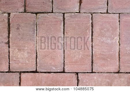 Terracotta Tile Surface With Patina