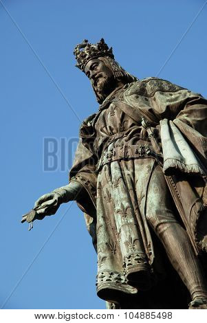 Statue of Emperor Charles IV.