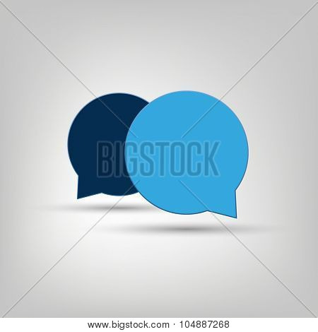 Chat, Conversation Design Concept - Blue Speech Bubbles with Text Space