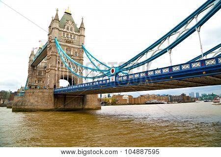 London Tower In England Old Bridge