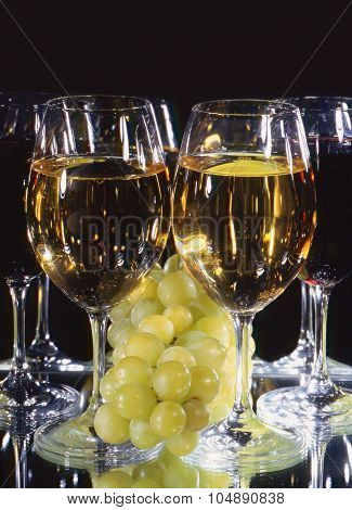 Wine And Grapes.