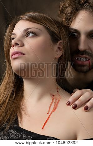 vampire bites woman
