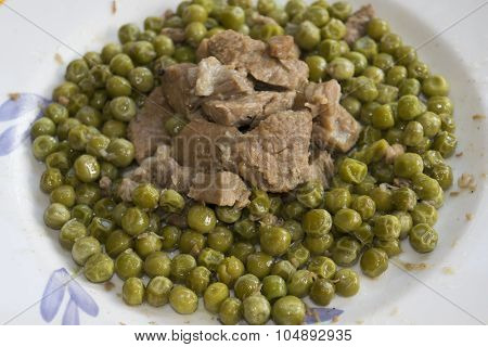 Veal Stew With Peas and bacon