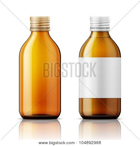 White plastic bottle for pills.
