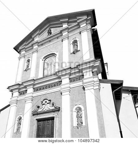 Orange    In Italy Europe Milan     Religion And Sunlight Old Architecture    And Marble