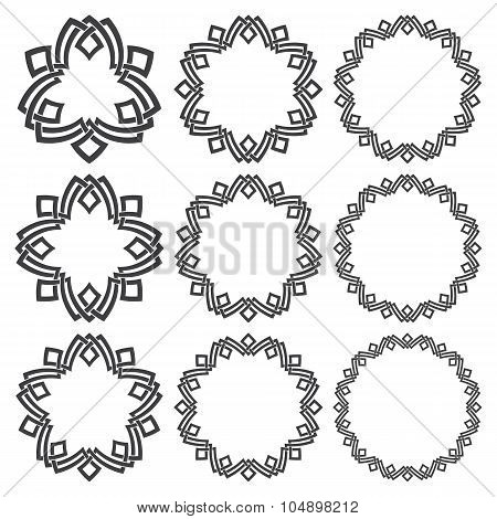 Set of circular patterns for logo design