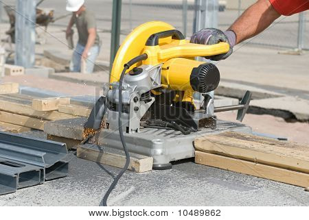 Sawing Metal Studs