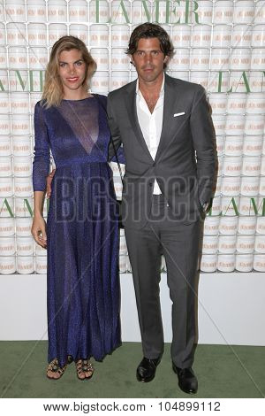 LOS ANGELES - OCT 13:  Delfina Blaquier, Nacho Figueras at the La Mer Celebration Of An Icon Global Event at the Siren Studios on October 13, 2015 in Los Angeles, CA