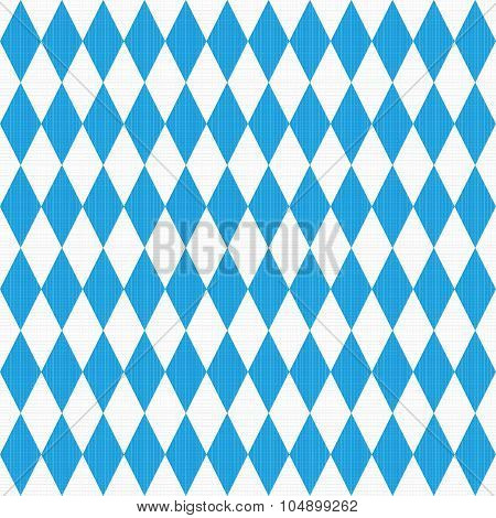 Seamless Oktoberfest pattern with fabric texture