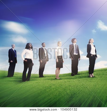 Business People Looking For the Future Aspiration Concept