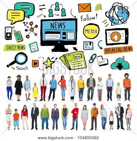 News Article Advertisement Publication Media Journalism Concept