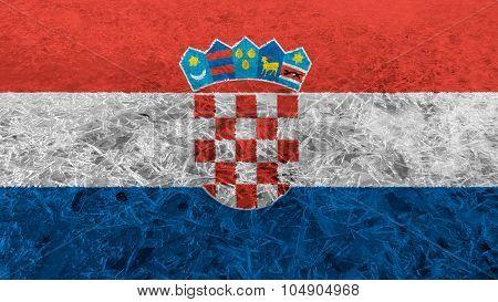 Flag of Croatia, Croatian flag made from ice