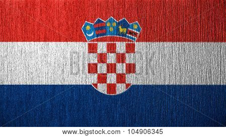 Flag of Croatia, Croatian flag painted on metal texture