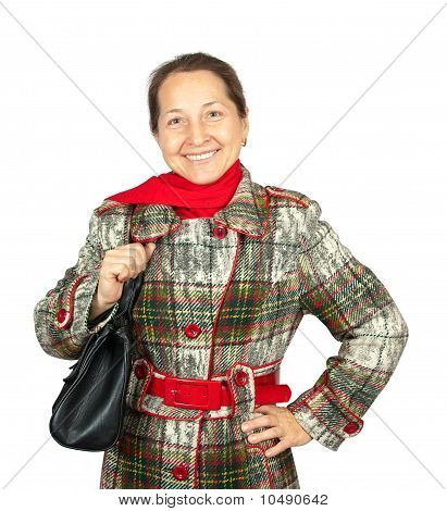Mature Woman Wearing   Coat