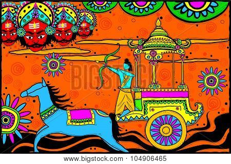 Rama killing Ravana for Dussehra