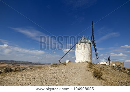 Windmills In Spain, La Mancha, Famous Don Quijote Location
