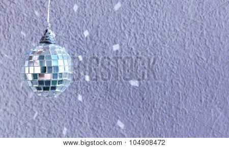 small decoration disco ball with reflection