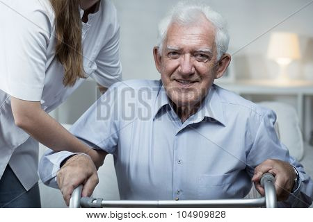 Nurse Is Helping Elder Man