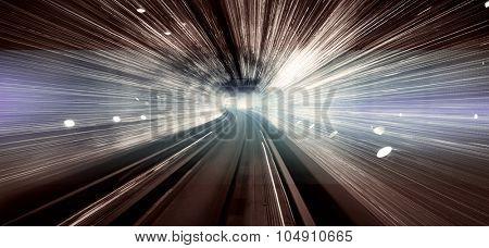 Shanghai light display tunnel Long exposure concept
