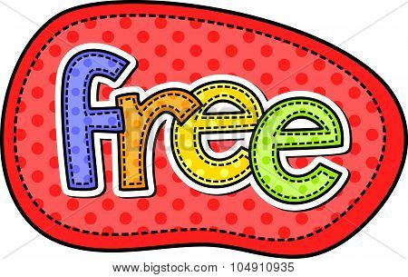 Free Stitch Text Label