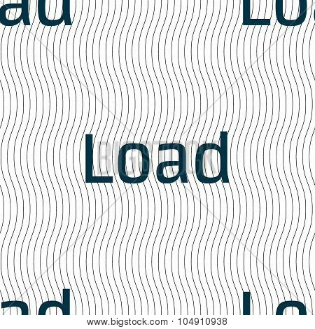 Download Now Icon. Load Symbol. Seamless Pattern With Geometric Texture. Vector