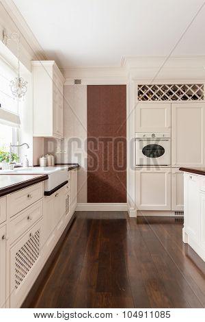 White Furnished Kitchen
