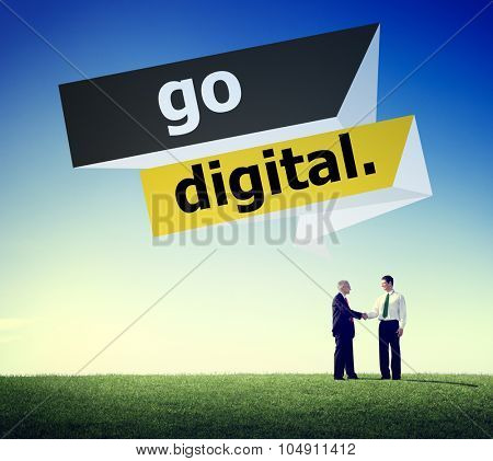 Go Digital Modern Latest Technology Upgrade Concept