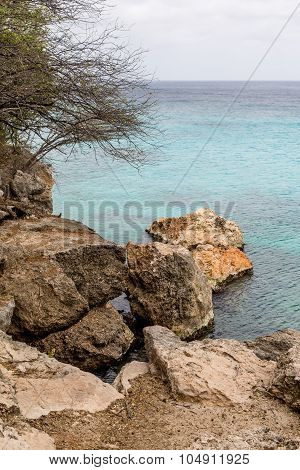 Boulders On Curacao Shore