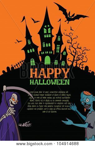 Halloween poster. Halloween vector background