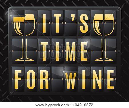 Its Time For Wine Steel Flip Calendar.