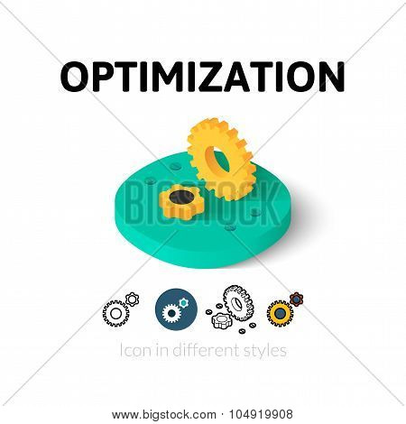Optimization icon in different style
