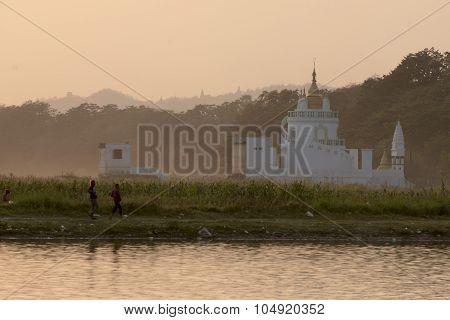 Asia Myanmar Mandalay Amarapura Taungthaman Lake