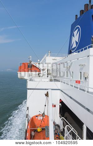 Dfds Seaways Ferry. Vertically.