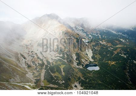 view from Volovec at Tatra mountains