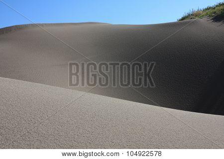 Rolling sand dunes at St Anthony Idaho