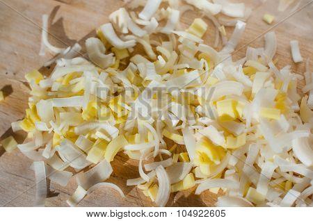 chopped leek
