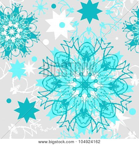 Vector seamless Christmas pattern.