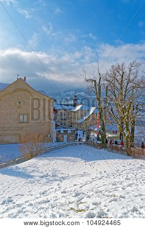 Winter In The Town Of Gruyeres