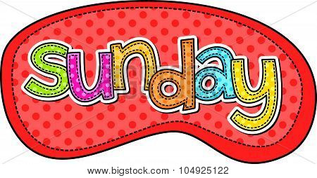 Sunday Stitch Text Label
