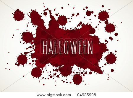 Halloween Blood Splatter Background