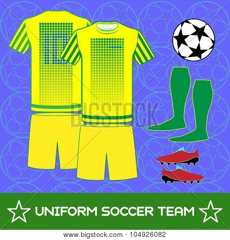 Uniform Soccer Team Sportswear Template